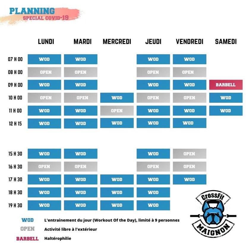 Planning Crossfit Maignon